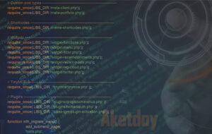Código PHP en archivo functions.php