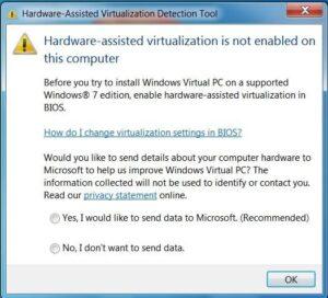 Mi procesador soporta virtualización pero no lo activé