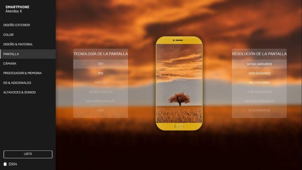 Diseñador de móviles Smartphone Tycoon